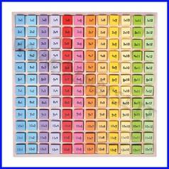 I cubetti delle tabelline - in legno - pz.144