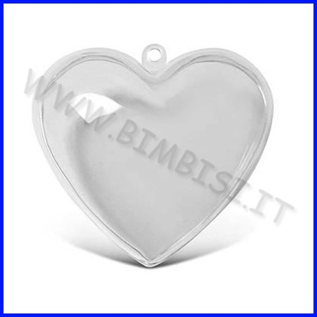 Cuore kristall 3d cm. 6