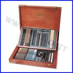 Set artisti gioconda - 54 accessori - cassetta legno