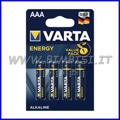 Pila energy alcaline mini stilo - blister 4 pz.