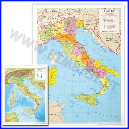 Carta geografica da banco italia 42x29,7