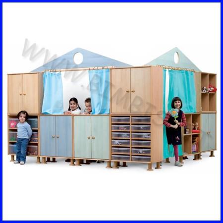 Elemento portale + doppia tenda corta 225x3x40 cm