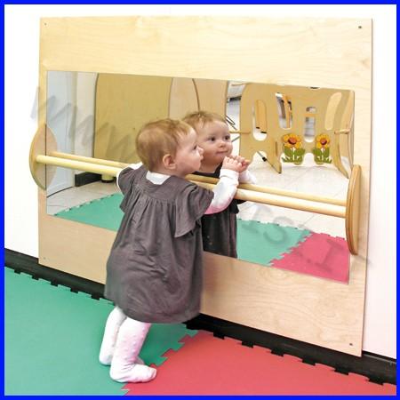 Specchio sicurezza c/corrimano 102x88 cm