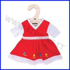 Bambola cm 30 vestitino rosso