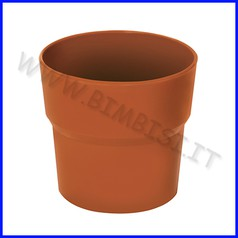 Vasetto color terracotta - set 4 pz. - ml 250