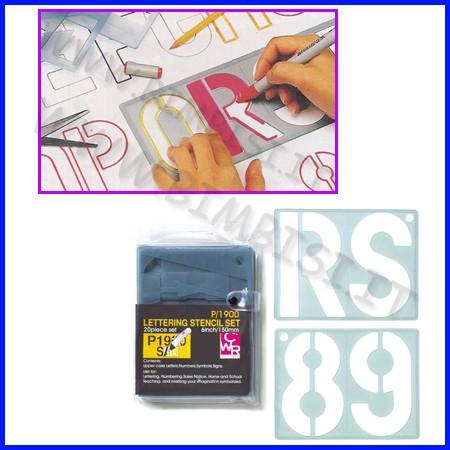 Normografi maxi 4 lettere numeri cm 5