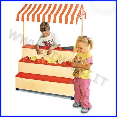 Mobile gioco mercato in legno 95x52x135h cm
