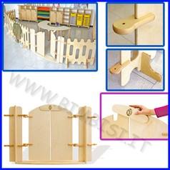 Recinto staccionata in legno - cancello con chiusura - dim.cm 122x1,5x76h