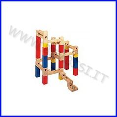 Labirinto in legno per biglie - conf.54 pz.