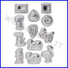 Stampi in acciaio set 12 soggetti ass. fino ad esaurimento