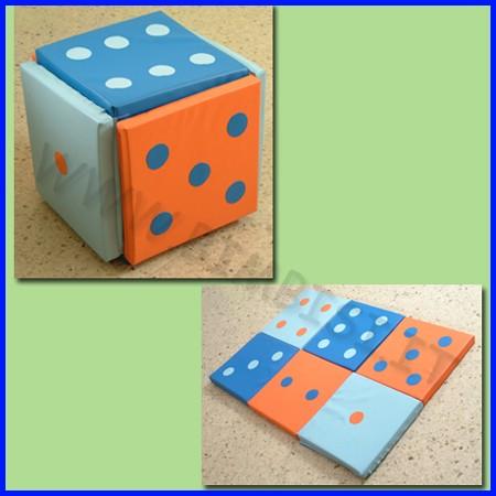 Morbidone gioco cubo smontabile 60x60x6 cm