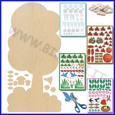 Albero in legno acero non verniciato cm 75x150