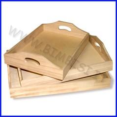 Supporti in legno: vassoi set 3pz