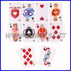 Carte da gioco illustrate - mazzo pz 52