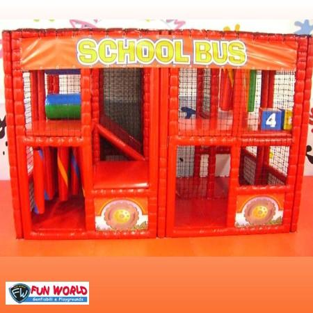 Soft playground school bus dim. cm 220x350x240h - 15 bambini
