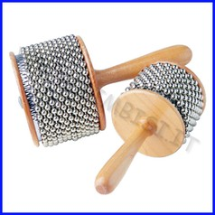 Strumenti musicali cabasa legno/metallo cm. 8,5