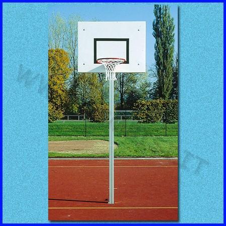 Impianto basket con tabellone, canestro, rete ed accessori, h da competizione