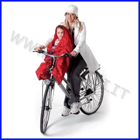 Sitty cover giacca impermeabile per seggiolino bici