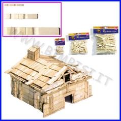 Mezze mollette legno mm 72 busta pz.100