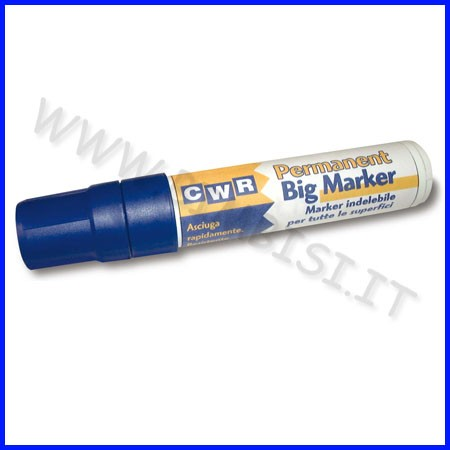 Marker permanente punta scalpello blu