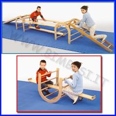 Attrezzi ginnici legno asse collegamento