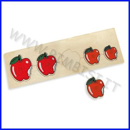 Puzzle legno seriazioni mele