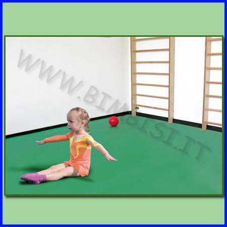 Tatami-tappeto bicolore rosso/blu 6 mq spessore 25 mm - 6 mattonelle 100x100cm
