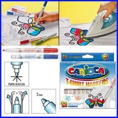 Pennarelli tessuto carioca cromatex 12 colori assortiti