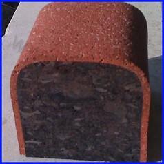 Cordolo antitrauma per esterno in gomma epdm dim.cm 98 x 9,5 x 9h