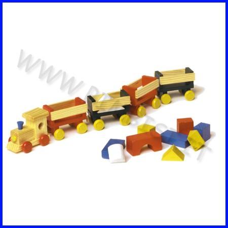 Trenino merci in legno cm.47x7 fino ad esaurimento