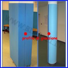 Protezione in eva ignifuga su misura profilo di giunzione barra da 200 cm