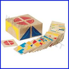 Cubo delle combinazioni in legno - 30 pezzi