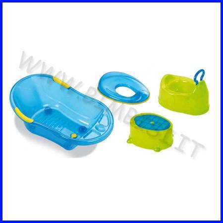 Set bagno plebani - 1 vasino + 1 step + 1 vaschetta + 1 riduttore