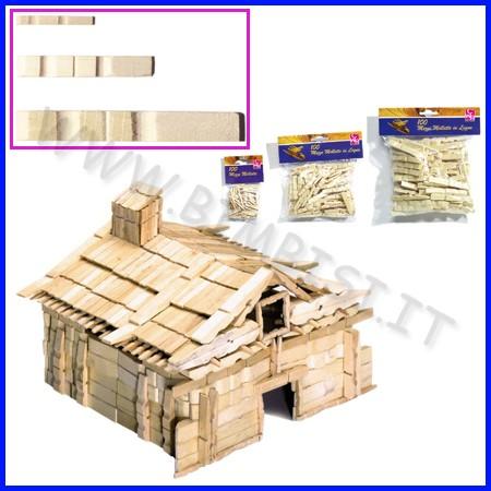 Mezze mollette legno mm 45 busta pz.100