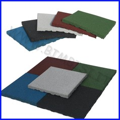 Pavimentazione antitrauma gomma sbr 80mm certificata hic 2,20mt