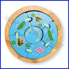 Puzzle legno vita della rana fino ad esaurimento